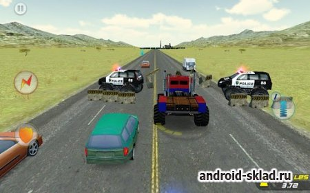 Crazy Monster Truck - Escape - погоня на Android