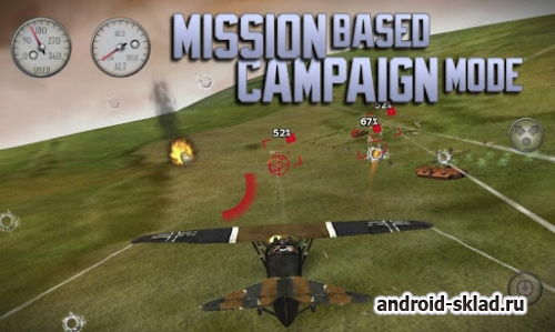 Sky Gamblers Rise of Glory - бои на старых самолетах для Android