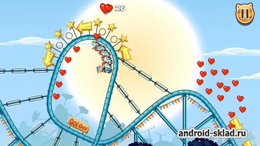 Nutty Fluffies Rollercoaster - американские горки на Android