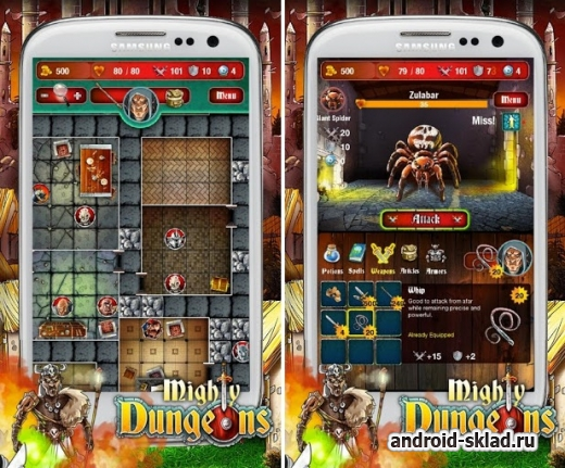 Mighty Dungeons - оффлайн РПГ для Android