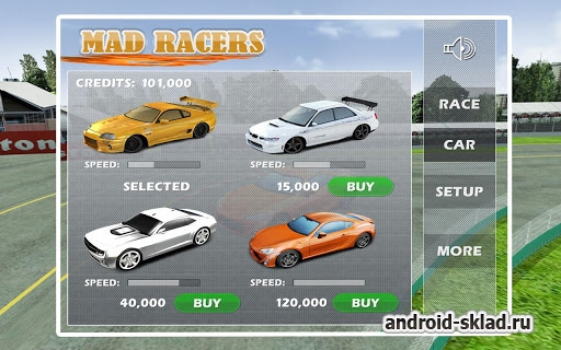Mad Racers - профессиональные гонки для Android