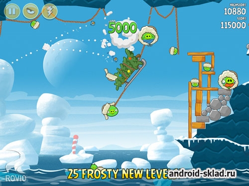 Angry Birds Season Arctic Eggspedition - птички со свинками в Арктике