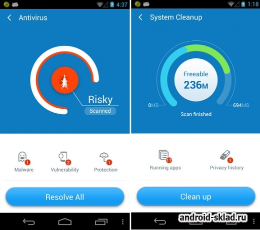 360 Mobile Security - ����������� ��������� ������������ �� Android