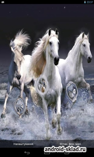 Beautiful Horses Wave effect - обои на андроид