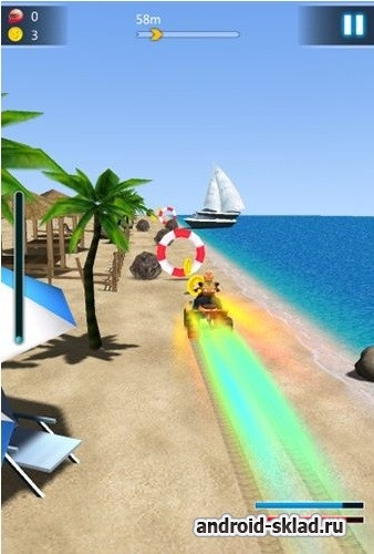 Crazy Speed: Beach Moto Racing - гонки на пляже