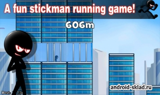 Stickman Roof Running  - раннер