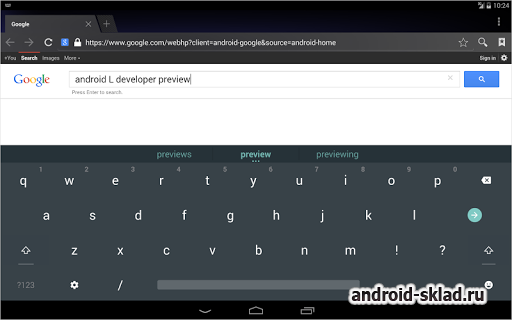 Android L Keyboard - ���������� � ����� ������ ��������