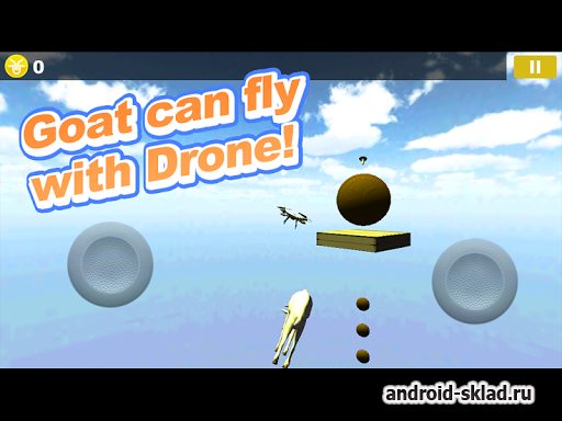 Drone with Goat Simulator - ������ �� �������