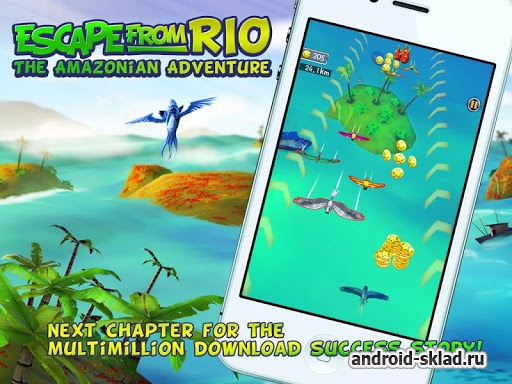 Escape From Rio The Adventure - раннер с героями из мультфильма