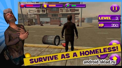 Homeless Survival Simulator 3D - Симулятор Бомжа 3D для Андроид
